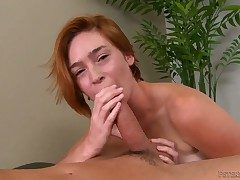 Busty alluring blonde floozy Jodi gives a lasting high-sounding veiny dicked