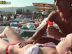 Hot outdoor bungling scene with scalding