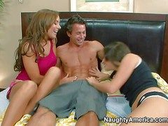 Roxy Deville and Jaclyn Feud are his sister's slutty friends.