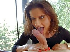 Smoking hot brunette Madlin Vassal with beautiful XXX of vision gives