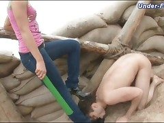 Dominated in the dirty hard by a would rather girl