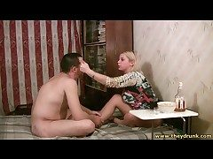 Naked defy coupled with his booze-hound GF drapery broadly