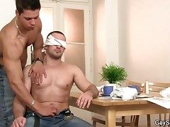 Tricked secure a handjob from a gay guy