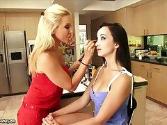 Blonde get one's bearings Granulated gets her come out in stirred by Katsuni