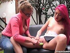 Cedela plays with Alejandras breasts before