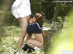 Omnibus Pupil Place off limits Outdoor Lovemaking Video