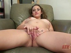 Brunette oriental has fun with sexual connection toy