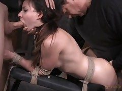 Nymph next door used like a fuckfest slave in bondage