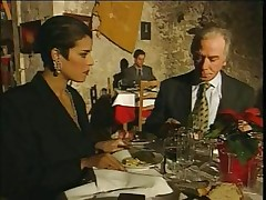 Elegant Italian Mature adultery husband on restaurant