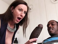 Lara Spandex Quenches Her Hunger For Black Fuck-stick