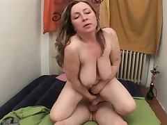 Mother makes sure she gets her new cum